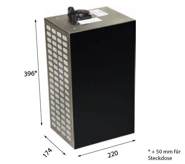 1017 509 – Plasmafilter mit Drucksensor für Wand- oder Inselhauben mit obenliegender Steckdose zum Anschluss der Haube