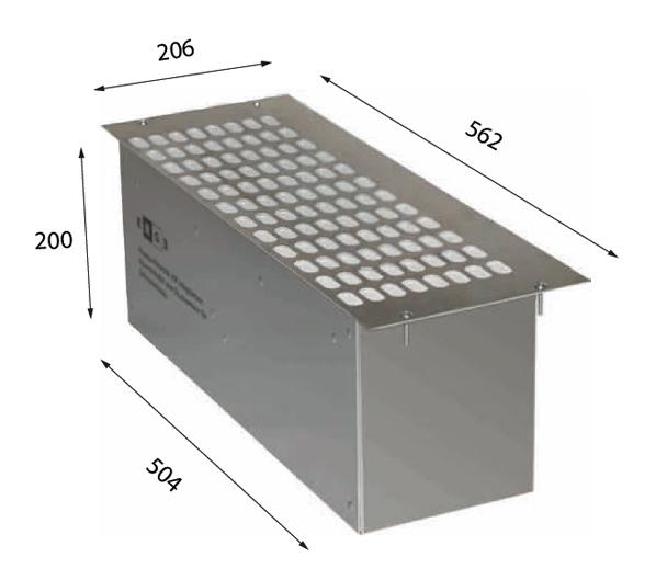 1018 510 – Einbau-Plasmafilter für Schrankhauben mit Drucksensor