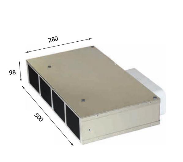 1019 500 – Plasma-Sockelfilter mit Drucksensor zum Anschluss an Interia Premium, EVO 01, EVO 02, EVO 02 Eco, EVO 03, MoveUp und Fremdgeräte