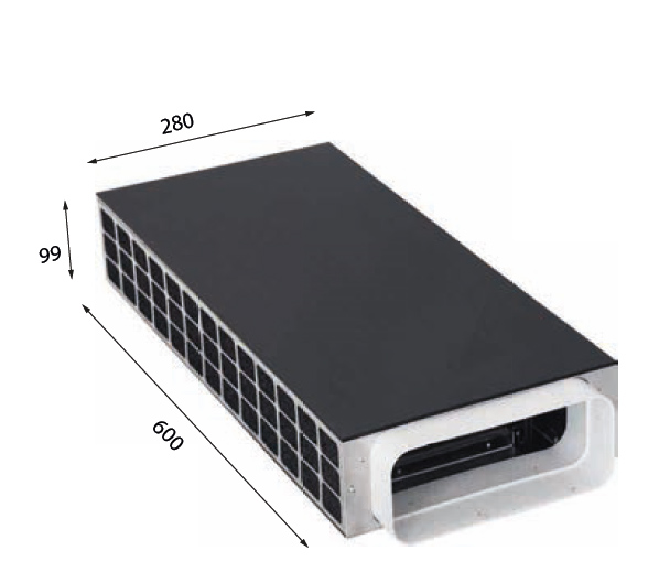 1019 600 – Plasma-Sockelfilter mit Drucksensor zum Anschluss an Interia Premium, EVO 01, EVO 02, EVO 02 Eco, EVO 03, MoveUp und Fremdgeräte