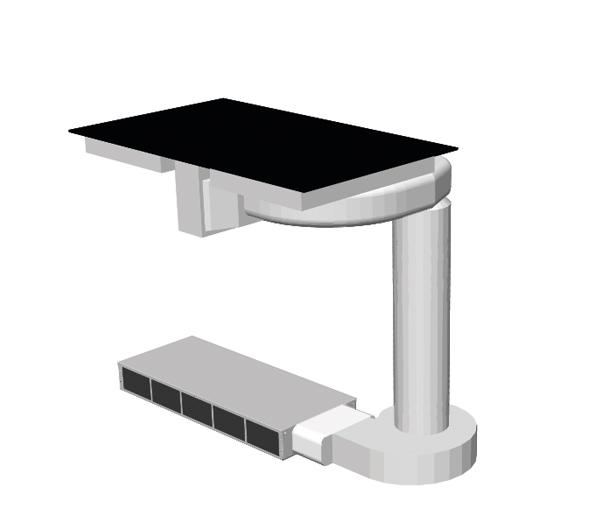 Einbaubeispiel – Einbaubeispiel Interia Control, Plus, und Light mit Abluftsystem bis zum Sockellüfter, Sockellüfter, Plasmafilter mit Kohlefi lterbox